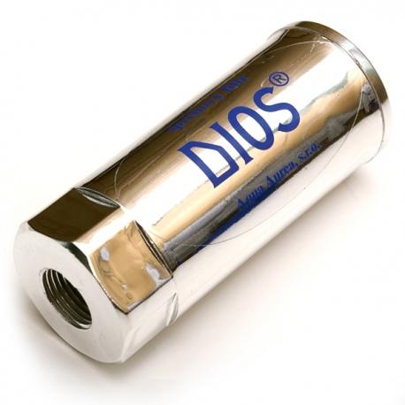 Sprchový filter DIOS lesklý - na úpravu teplej vody pri sprchovaní a kúpaní, zbavuje vodu chlóru 1/3