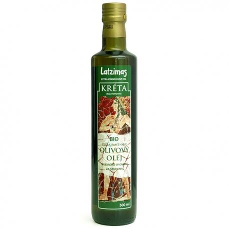 BIO Olivový olej 500ml extra panenský Latzimas z Kréty