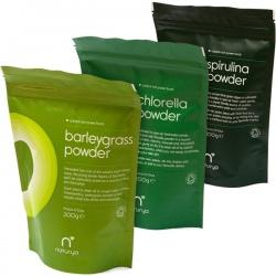 BIO Zelený balík 1 Naturya 600g (Mladý jačmeň + Chlorella + Spirulina)