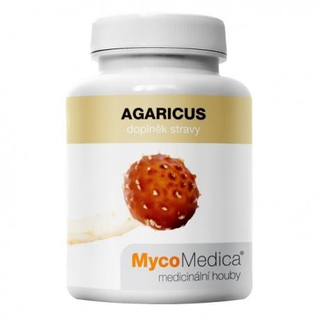 Agaricus extrakt z plodnice 90 kapsúl x 500mg MycoMedica (30% polysacharidov)