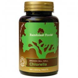 BIO Chlorella tabletky 300 x 500mg Rainforest Foods