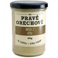 Maslo z kešu orechov 400g Pravé Orechové - mleté 100% kešu