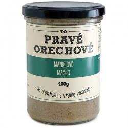 Mandľové maslo 400g Pravé Orechové - mleté 100% mandle nelúpané