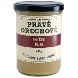 Arašidové maslo 400g Pravé Orechové - mleté 100% arašidy