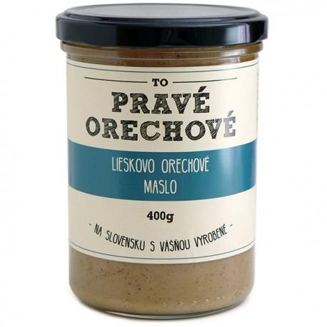 Maslo z lieskových orechov 400g Pravé Orechové - mleté 100% lieskovce