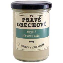 Maslo z lúpaných mandlí 400g Pravé Orechové - mleté 100% mandle lúpané