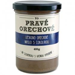 Lieskovcové maslo s čokoládou 400g Pravé Orechové