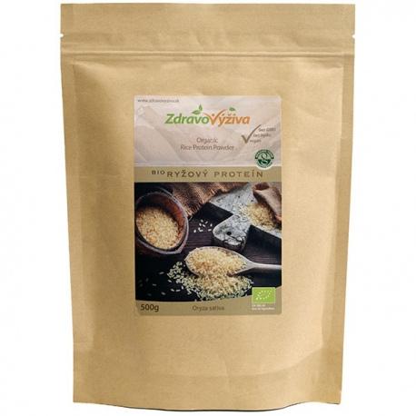 Bio Ryžový proteín prášok z celozrnnej ryže 500g Zdravovýživa - 88% bielkovín