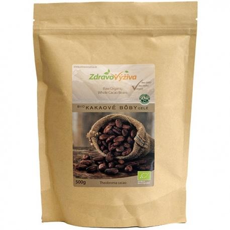 Bio Kakaové bôby celé RAW 500g Zdravovýživa - odroda Criollo