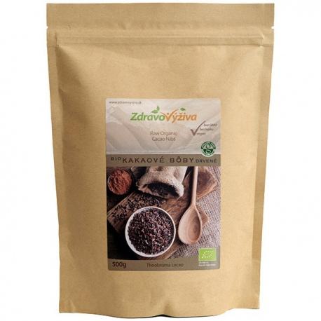 Bio Kakaové bôby drvené RAW 500g Zdravovýživa - odroda Criollo