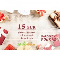 Darčekový poukaz 15 €