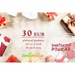 Vianočný darčekový poukaz 30 €