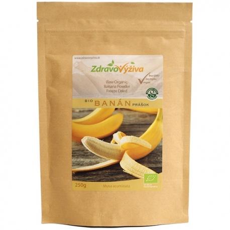 Bio Banánový prášok RAW 250g Zdravovýživa - sušené mrazom