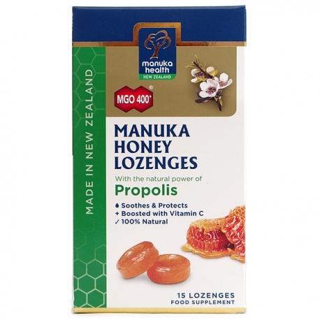 Cukríky Manuka MGO 400+ s propolisom 65g Manuka Health New Zealand