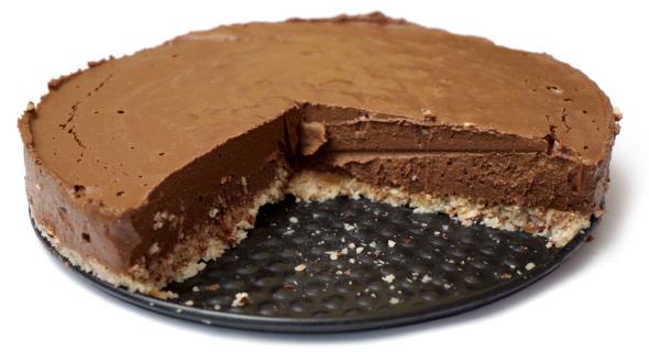 Raw Banánovo čokoládová celá torta