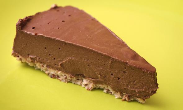 Raw Banánovo čokoládová torta