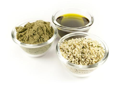 Produkty z konope, proteín, olej a semienka