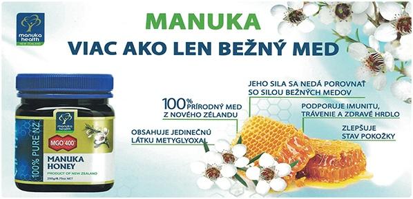 Pravý manuka med z Nového Zélandu